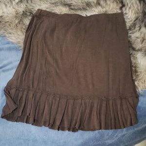 Soft brown skirt